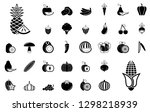 fruits and vegetables   iconset ... | Shutterstock .eps vector #1298218939