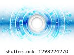 abstract futuristic... | Shutterstock .eps vector #1298224270