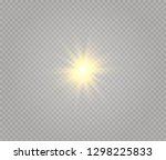 star explodes on transparent...   Shutterstock .eps vector #1298225833