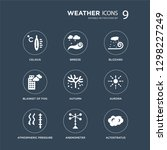 9 icons set such as celsius ... | Shutterstock .eps vector #1298227249