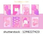 saint valentine's day trendy... | Shutterstock .eps vector #1298227423
