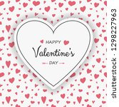 valentine's day card with... | Shutterstock .eps vector #1298227963