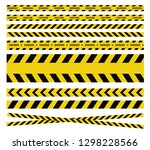 caution and danger tapes.... | Shutterstock .eps vector #1298228566
