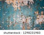 rusty metal corrugated metal... | Shutterstock . vector #1298231983