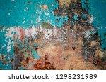 rusty metal corrugated metal... | Shutterstock . vector #1298231989