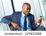 handsome african american... | Shutterstock . vector #129823388