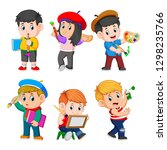 the collection of the children... | Shutterstock .eps vector #1298235766