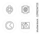 4 line aperture  three quarters ...   Shutterstock .eps vector #1298236723