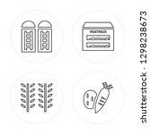 4 line silo  wheat  vegetables  ... | Shutterstock .eps vector #1298238673