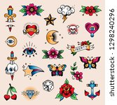 Set Of Mini Color Tattoos At...