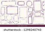 hand drawn shabby vintage...   Shutterstock .eps vector #1298240743