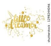 little dreamer. lettering.... | Shutterstock .eps vector #1298244046