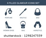 glamour icons. trendy 6 glamour ... | Shutterstock .eps vector #1298247559