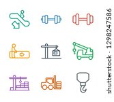 9 lift icons. trendy lift icons ... | Shutterstock .eps vector #1298247586