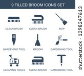 broom icons. trendy 9 broom... | Shutterstock .eps vector #1298247613