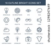16 bright icons. trendy bright...   Shutterstock .eps vector #1298247649