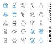 greek icons set. collection of... | Shutterstock .eps vector #1298248816
