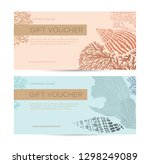 gift card or certificate with... | Shutterstock .eps vector #1298249089