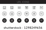 url icons set. collection of...