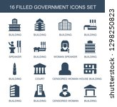 16 government icons. trendy...   Shutterstock .eps vector #1298250823