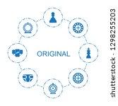 8 original icons. trendy... | Shutterstock .eps vector #1298255203