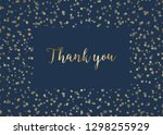 thank you card template with... | Shutterstock .eps vector #1298255929