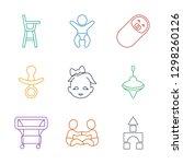 toddler icons. trendy 9 toddler ... | Shutterstock .eps vector #1298260126