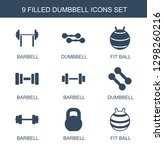 9 dumbbell icons. trendy... | Shutterstock .eps vector #1298260216