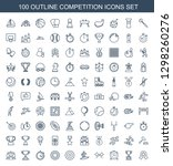 competition icons. trendy 100... | Shutterstock .eps vector #1298260276