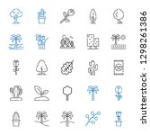 botany icons set. collection of ... | Shutterstock .eps vector #1298261386