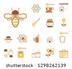 bees  honey   iconset  icons  | Shutterstock .eps vector #1298262139