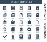 25 list icons. trendy list... | Shutterstock .eps vector #1298263120