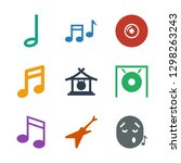 melody icons. trendy 9 melody... | Shutterstock .eps vector #1298263243