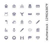 editable 25 glamour icons for...   Shutterstock .eps vector #1298263879