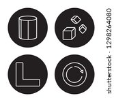 4 linear vector icon set  ... | Shutterstock .eps vector #1298264080