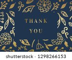 thank you card template with... | Shutterstock .eps vector #1298266153
