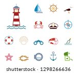 sea   coast   iconset  icons  | Shutterstock .eps vector #1298266636