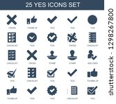 yes icons. trendy 25 yes icons. ...   Shutterstock .eps vector #1298267800