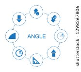 8 angle icons. trendy angle... | Shutterstock .eps vector #1298267806
