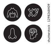 4 linear vector icon set   men... | Shutterstock .eps vector #1298268409