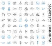 romance icons set. collection... | Shutterstock .eps vector #1298269090