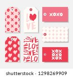 a set of seven cute romantic... | Shutterstock .eps vector #1298269909
