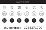 www icons set. collection of... | Shutterstock .eps vector #1298271700