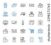 purchase icons set. collection... | Shutterstock .eps vector #1298271763