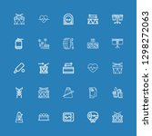 editable 25 beat icons for web... | Shutterstock .eps vector #1298272063