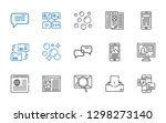 chat icons set. collection of... | Shutterstock .eps vector #1298273140