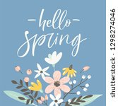 spring greeting card with... | Shutterstock .eps vector #1298274046