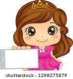 illustration of a kid girl... | Shutterstock .eps vector #1298275879