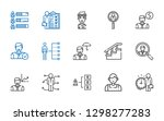 career icons set. collection of ... | Shutterstock .eps vector #1298277283