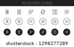 receiver icons set. collection... | Shutterstock .eps vector #1298277289